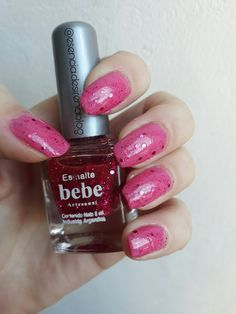 Esmaltes bebe glitter rosa