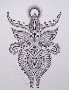 Small (A5) drawing Anoushka Irukandji 2014 www.irukandjidesigns.bigcartel.com