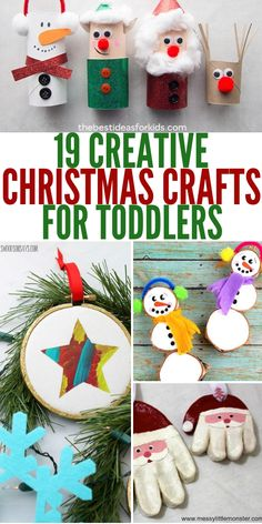 19 Christmas Crafts For Toddlers You Must See Right Now Here are 19 Christmas Crafts for Toddlers that will get them into the holiday spirit. Christmas crafts for kids are always fun, and these ar # Christmas Arts And Crafts, Christmas Crafts For Toddlers, Decoration Christmas, Diy Christmas Gifts, Christmas Fun, Christmas Decorations For Classroom, Christmas Toddler Activities, Ireland Christmas, Arts And Crafts For Kids Toddlers