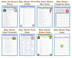 lots of free printable games - Ive seen baby shower bingo a lot. Not sure what types of games were going for