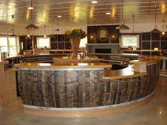 Black Star Winery tasting room table