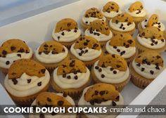 Cookie Dough Cupcakes via @crumbsandchaos