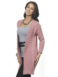 Long & Lean Cardi | Yarn | Free Knitting Patterns | Crochet Patterns | Yarnspirations