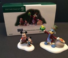 Dept 56 Disney Merry Mickey Christmas Cratchits Mouse Donald Scrooge Figurines   eBay