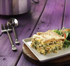 Nutrient powerhouses butternut squash and kale add both color and flavor to this creamy, cheesy slow-cooker lasagna.