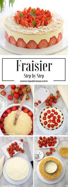 Rezept für französische Erdbeertorte * Fraisier Torte Step by Step * Recipe for french Fraisier Cake with Strawberries  * Recette de Fraisier *  #patisserie #erdbeerkuchen #erdbeeren * Made by La Pâticesse