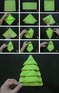 how to do-christmas napkin fold