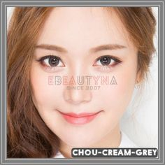 chou-cream-grey Grey Contacts, Colored Contacts, Circle Lenses, Cream, Tinted Contact Lenses, Circle Glasses, Creme Caramel, Color Lenses, Colored Eye Contacts