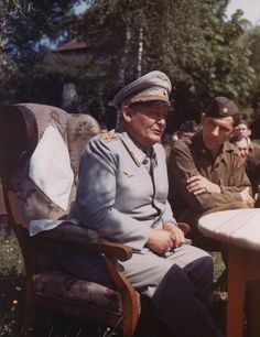 693 x 900 pixels - 70 KB Hermann Göring on what appears to be a subsequent day after his surrendered, sitting down with Major Paul Kubala fr...
