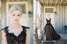 Black Wedding Dress // Desert Bridal Inspiration in Film // see more on thesoutherncaliforniabride.com