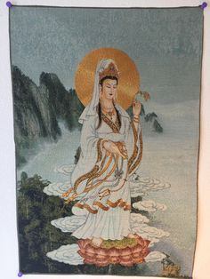 Guanyin Standing by the Water  Buy vertical Feng Shui embroidered thangka tapestry Guanyin Standing by the...   https://nemb.ly/p/V1SquJr8b Happily published via Nembol
