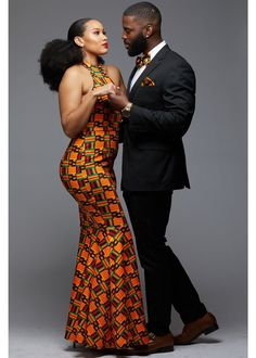 Couples African Outfits, African Attire For Men, African Clothing For Men, African Print Fashion, Africa Fashion, Modern African Fashion, African Wedding Dress, African Print Dresses, African Fashion Dresses