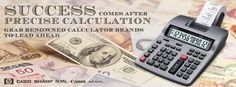#‎Success‬ comes after ‪#‎precise‬ ‪#‎calculation‬. ‪#‎Grab‬ renowned ‪#‎calculator‬ ‪#‎brands‬ to ‪#‎lead‬ ahead ► http://www.shopofficemachines.com/Calculators-Office-Supplies/b/8258991011