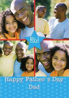 Upload four of your own photos to this Father's Day Card and customise the text. Happy Fathers Day Dad, Fathers Day Photo, Photo Upload, Texts, Card Making, Dads, Messages, Feelings, How To Make
