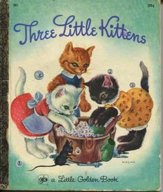 The Three Little Kittens  little golden books. we would use these and send like a chain letter...fun and smart