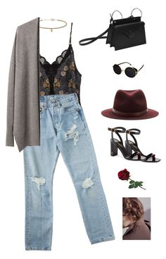 """The strategy."" by greciapaola ❤ liked on Polyvore featuring Yves Saint Laurent, Topshop, rag & bone, Giada Forte and INDIE HAIR"