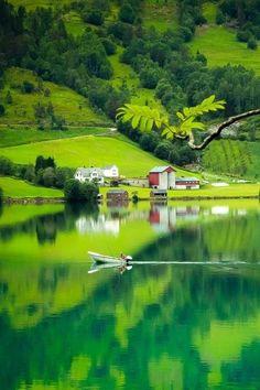 Lake Side, Styn, Norway.