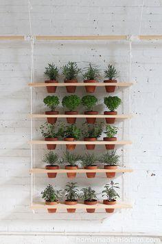 35+ Creative DIY Herb Garden Ideas --> DIY Hanging Herb Garden #gardening #herb_garden