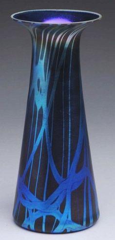 Durand Dark Blue Art Glass Vase