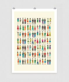 Identical Twins Poster, via Etsy