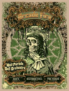 arcade fire music gig posters   Flyer Goodness: Arcade Fire Posters by Burlesque of North America