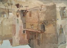 'A sunlit square, Languedoc' Original watercolour painting signed 'W Russell Flint' (lower right); signed, titled and dated '1961' on the reverse watercolour on board Image size:- 20 3/4 x 27 1/2in (52.7 x 69.8cm) PROVENANCE: with Frost & Reed, London. EXHIBITED: London, Royal Academy, Summer Exhibition, 1962, no. 781.