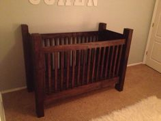 Handcrafted Rustic Wood Baby Crib. by rusticbabycribs on Etsy, $1079.00