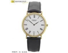 1-5-638-2-Reloj Raymond Weil Geneve correa de cuero negra L3638 Raymond, Watches, Leather, Accessories, Black Leather, Clocks, Gold, Elegant, Wristwatches