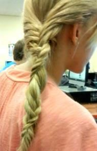 My new hair invention. I named it the twister braid (but that name might change) (: