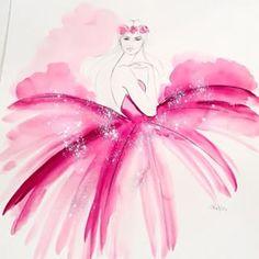 FBF Pink | Ele Marti Illustration