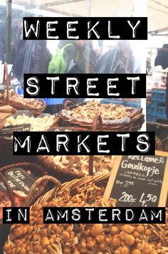 From vegetables to bicycle parts to cheese to vintage clothing, there is something for everyone at Amsterdam's weekly street markets. -awesomeamsterdam.com #amsterdam #markets