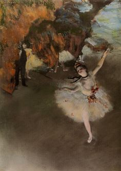 エドガー・ドガの『エトワール』より。これを見ていると当時のバレエ・ダンサーが置かれた社会的立場が一瞬でわかるのである。QT Degas : Ballet - l'étoile