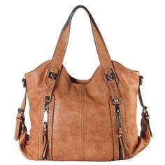 3ec3d456cd Diophy Faux Leather Double Front Pockets Hobo Handbag