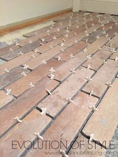 A Guide: How to Install Brick Floor Tile – Brick Tiles Entryway Flooring, Porch Flooring, Brick Flooring, Diy Flooring, Concrete Floors, Kitchen Flooring, Hardwood Floors, Brick Tiles Kitchen, Brick Look Tile