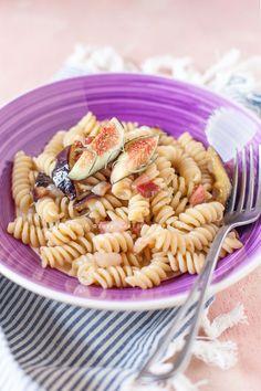 pasta con fichi e pancetta