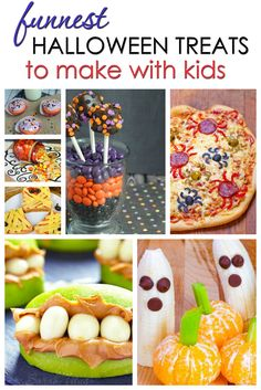 Whether you're going to a party or staying home with your family this year, these funnest Halloween treats to make with kids are SURE to please!