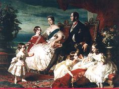 §§§ . Queen Victoria, Prince Albert and the first five of their nine children