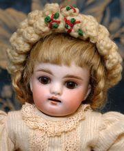 """Wonderful 8.5"""" All Bisque WRESTLER Antique Kestner Doll Circca 1890"""