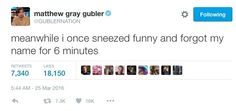 24 Times Matthew Gray Gubler's Twitter Was A Treasure To Mankind