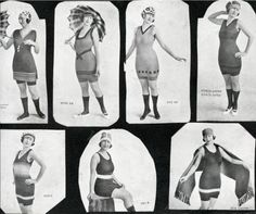 1920s bathing suit. Wish these would come back in style.
