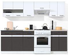 Brand New Kitchen Units WHITE HIGH GLOSS - Grey Complete Junona 240 cm BRW