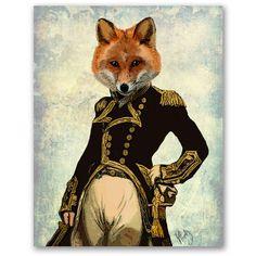 最強騎士フォックス|おしゃれな動物ポスター by LoopyLolly