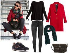 Copia el look de la blogger LovelyPepa con abrigo de A Collection, jersey de Ada Gatti, pantalón de Jacqueline de Yong, zapatillas @mtngmustang, bolso @pikolinos y bufanda Riverside.