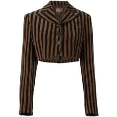 Pre-owned Romeo Gigli Vintage striped bolero jacket