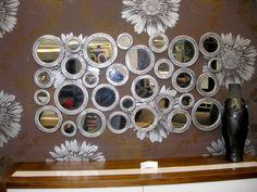.-Δείγμα απ τη μεγαλύτερη  γκάμα χειροποίητων καθρεφτών στην Ελλάδα. .-Το σύνολο μπορείτε να το δείτε στο/// www.x-esio.gr Wood Mirror, Chandelier, Ceiling Lights, Handmade, Mirrors, Home Decor, Candelabra, Hand Made, Decoration Home