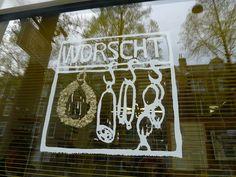 Worscht Springsnow etalage Amsterdam Czaar Peterstraat