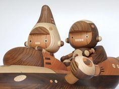 Takeji Nakagawa's wooden characters
