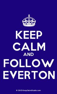 EVERTON FC KEEP CALM 11OZ MUG WH