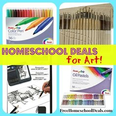 Homeschool Deals for Art: Oil Pastels, Oil and Acrylic Brush Set, + More!  #homeschooldeals #homeschool #art