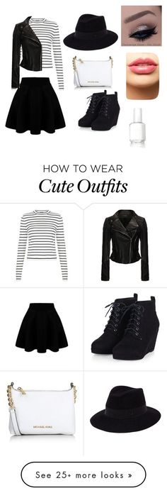 Cute outfit... by jungraesunsunshine on Polyvore featuring Maison Michel, Michael Kors, LASplash, Essie, womens clothing, women, female, woman, misses and juniors